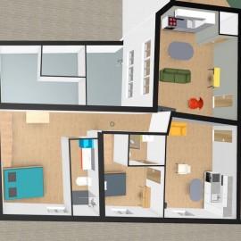 Appartement Plateau dans bel immeuble ancien Bordeaux Pey Berland Hôtel de Ville Tram A et B