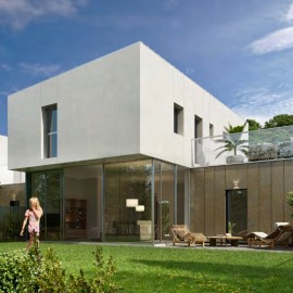 Maison contemporaine avec garage et jardin 130 m2 Bordeaux mairie Caudéran, à réserver, livraison en 2019