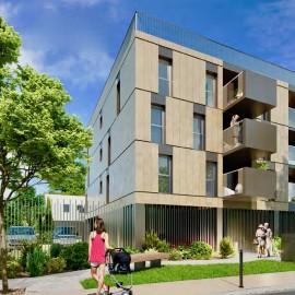 Appartement neuf avec balcon, ascenseur et parking 91 m2, Bordeaux Mairie de Caudéran