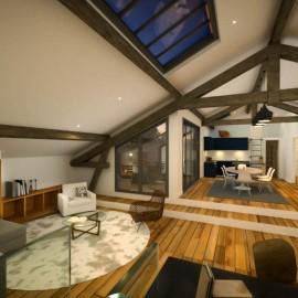 Plateaux de 30 à 85 m2 à configurer, Bordeaux Saint-Genès, terrasses et parkings