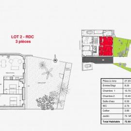 Appartement rénové avec jardin, 2 chambres, Bordeaux Nansouty