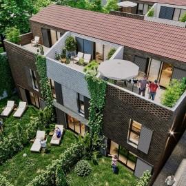 Maison de ville avec jardin, terrasse et parkings - Bordeaux Caudéran - Saint-Augustin - Programme La Manufacture