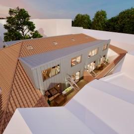 Plateau à aménager - Bordeaux Centre Hôtel de Police 83 m2 avec patio