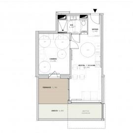 Appartement T2 avec jardin, terrasse, parking