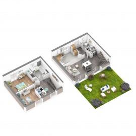 Le Bouscat Parc de la Chêneraie - Maison 3 chambres, 2 parkings couverts, jardin