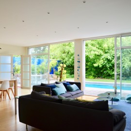 Bordeaux Caudéran Grand Lebrun, maison d'architecte 280 m2, 7 chambres, piscine, jardin, stationnements