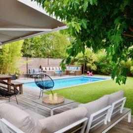 Bordeaux Caudéran Les Orangers - Villa 4 chambres, jardin, garage, piscine - 165 m2 - parfait état