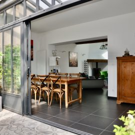 Maison - Loft de 230 m2 en duplex, patio 20 m2, réhabilitation, 5 chambres, bureau, Bordeaux Parc Rivière